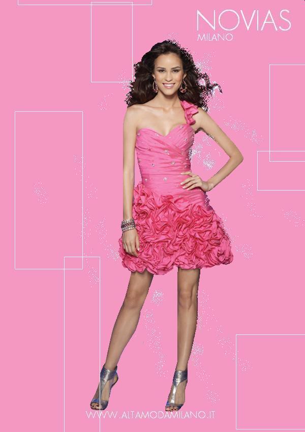 Abiti da cerimonia milano NOVIAS rosa PINK nuanche sensuali e femminili 5e4ab1bde01